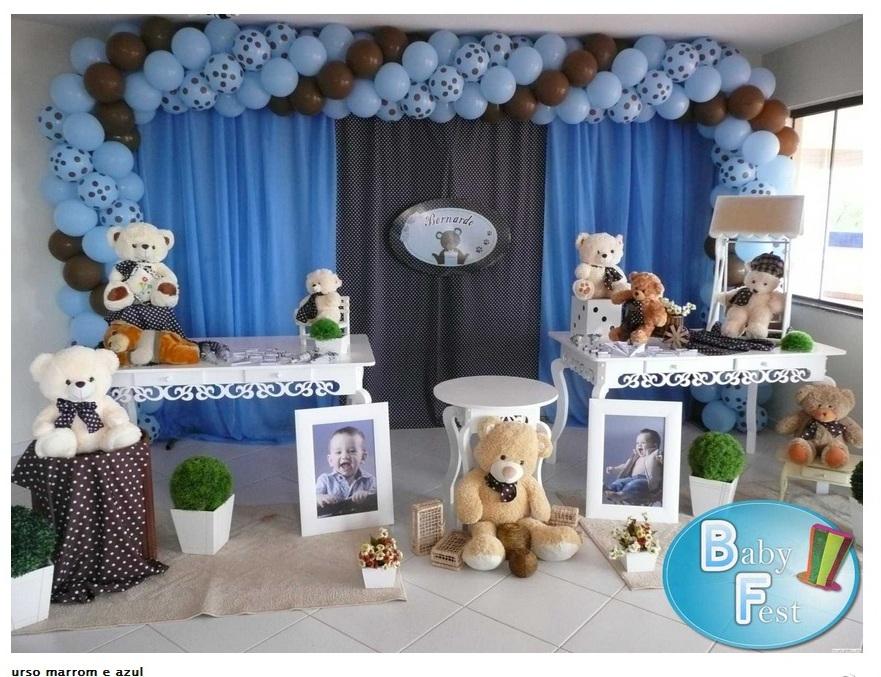 decoracao festa urso azul e marrom:Decoração – Ser Feliz é o que importa!!